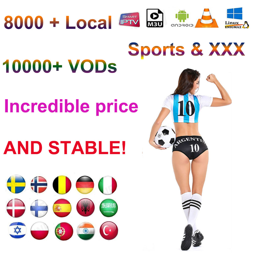 Sports XXX 1 Year Iptv Subscription 2 Devices 3 Devices  2 Connect  3 Connect Spain Italy M3u Smart TV Android Box