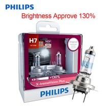 Philips h7 x treme visão mais 12v 55w auto halogênio farol lâmpada do carro ece aprovar 130% mais brilhante 12972xvp s2, par