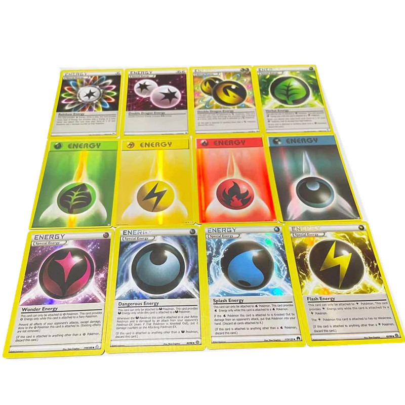 20 Pcs /Box Pokemon Card Featuring  ENERGY English Version Game Battle Carte Trading TRAINER Shining Collection Cards Kids Toys