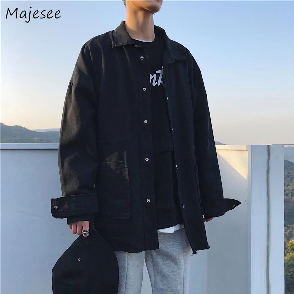 Cargo Jackets Men Solid Hip-Hop Harajuku Streetwear Loose 2XL All-match Plus Size Chic Daily High Quality Mens Clothing Leisure