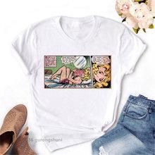 Женская футболка с принтом манги летняя танцующей девушки в