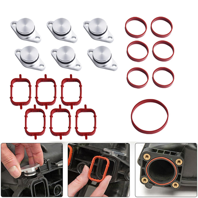 NS Modify 22mm 32mm For BMW M57 Swirl Blanks Flaps Repair Delete Kit With Intake Gaskets Key Blanks Car Replacement Parts