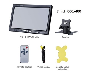 Image 5 - Small 7 inch car monitor pc mini TFT led lcd HD portable screen display 800x480 for Car Reverse Rearview Camera CCTV monitor