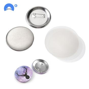 100 sztuk zestaw Metal Blank znaczek przypinka przycisk części dostaw na ubrania okrągła przypinka materiały DIY rzemiosła tanie i dobre opinie HT-0091 100-499 Sztuk