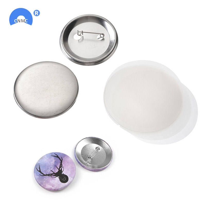 100Pcs/set Metal Blank Badge Pin Button Parts Supplies For Clothes Badge Button DIY Crafts Materials