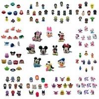 10 pièces/lot Avengers sésame rue Star Wars Mickey PVC chaussure breloques boucle ajustement bandes Bracelets Croc JIBZ chaussures Ormaments cadeau de noël