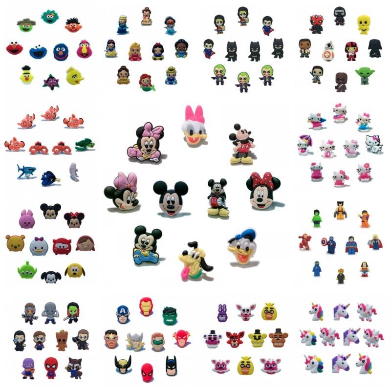 100pcs Avengers PVC Shoe Charms Accessories for holes on Shoes Bracelet Bag Gift