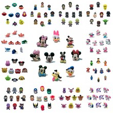 10pcs/lot Avengers Sesame Street Star Wars Mickey PVC Shoe Charms Buckle Fit Bands Bracelets