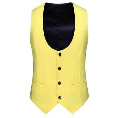 3 Piece Suits Men Yellow Desiger Slim Fit Plus Size 5XL Takım Elbise Boys Wedding Suits Party Dress Tuxedo Mens Suit 2020 New - 3