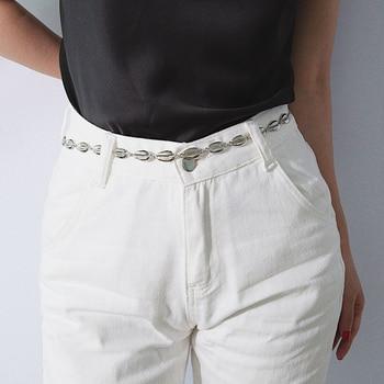 New Arrive Women Matel Shell Waist Chain Adjustable Chain Belts Body Chain for Women Pendant Belly Chain Waist Chain Jewelry фото