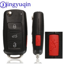 jingyuqin 4 Buttons Car Key Shell For VW Caddy Eos Golf Jetta Beetle Polo Up Tiguan Touran 5K0837202AD Case Cover Folding Flid