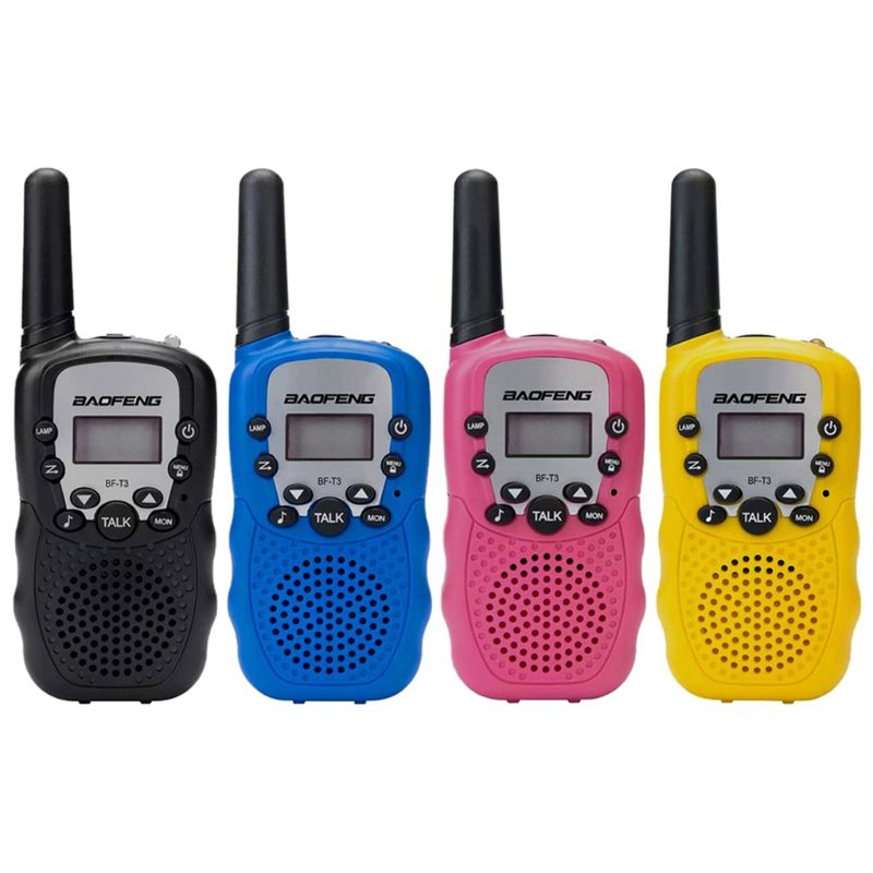 2Pcs BF-T3 UHF462-467MHz 8 Channel Portable Two-Way 10 Call Tones Radio Transceiver For Kids Radio Kid Walkie Talkie