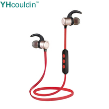 цена на Magnetic Wireless Bluetooth Earphone Neckband Stereo Sports V4.2 Waterproof Noise Cancelling Headset for Xiaomi Huawei Samsung