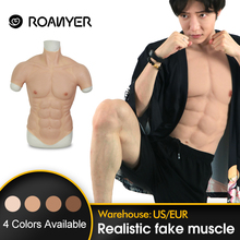 ROANYER Silicone Muscle Suit For Man Cosplay costume Male Fake Chest Bodysuit Realistic Simulation Muscles for halloween