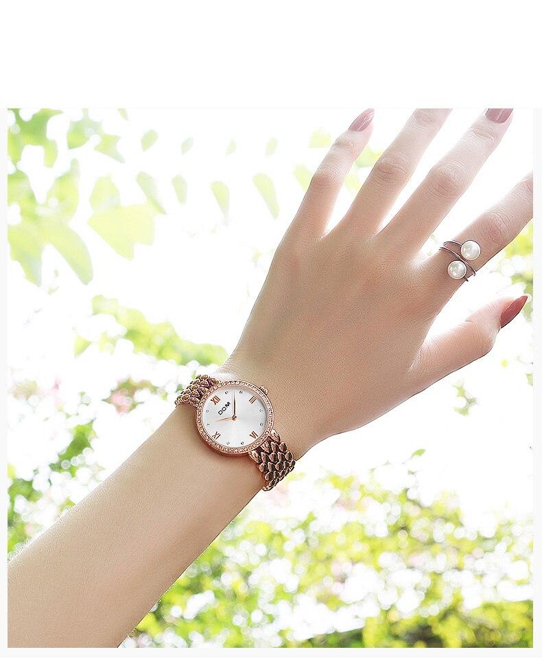 de luxo moda quartzo relógio de pulso