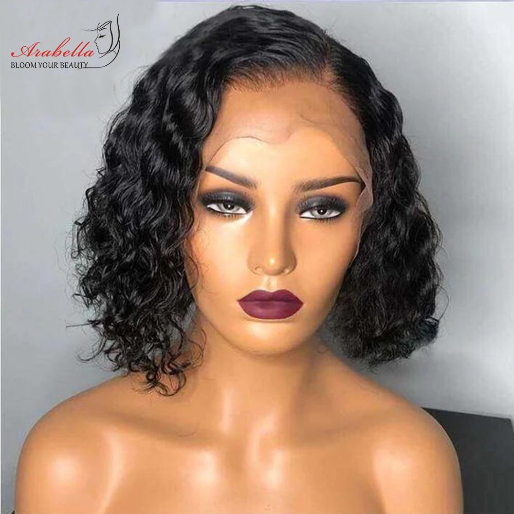 Deep Wave Bob Wig  Hair 180% Density Lace Closure Wig  With Baby Hair 100%  Wigs Bob Deep Curly Arabella 3