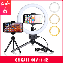 9 Inch Mini Led Video Selfie Ring Licht Met Statief Ring Lampen Voor Youtube Telefoon Live Foto Fotografie Studio Ringverlichting