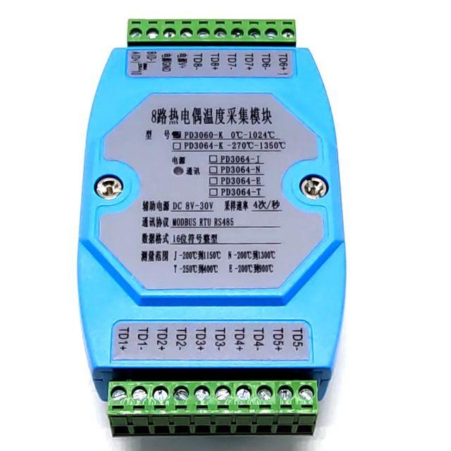 8 yollu K termokupl toplama modülü MODBUS RTU protokolü 485