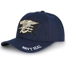 American USA Baseball Cap Navy Seals Embroidery Pattern Caps Dark Blue Tactic Hats Sun Protection Cotton Hat Outdoor Fashion New