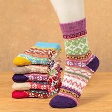 Autumn and winter warm women's socks ladies wool socks retro fashion ladies tube socks