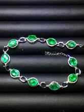 Fine Jewelry GIL Real 18K Gold AU750 G18K 100% Natural Emerald Gemstones 9.8ct Love Jewellery Bracelets for women Bracelet