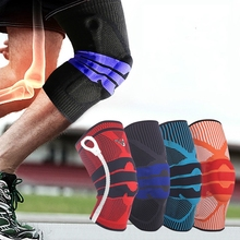 Breathable Silicone Non-slip Elastic Outdoor Climbing Football Basketball Sports Knee Pads