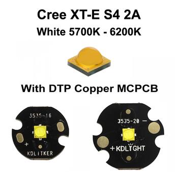 Nowy XT-E Cree biały 5700K #8211 6200K LED emiter z KDLITKER DTP Copper MCPCB (1 szt ) tanie i dobre opinie Piłka Cree XT-E 1500mA White 5700K - 6200K