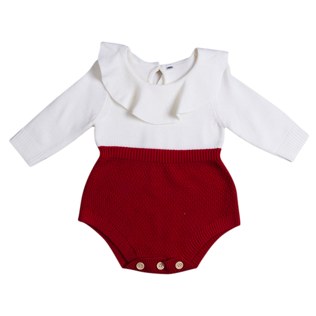 2019 Autumn Winter Newborn Baby Clothes Infant Toddler Girl Sweaters Rompers Wool Knitting Long Sleeve One-piece Outfits 0-24M 2
