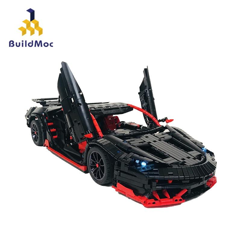 BuildMOC RC Car The Lamborghinis Roadster Power Function Car Building Blocks Bricks Kids Technic Toys 20091 MOC 12560