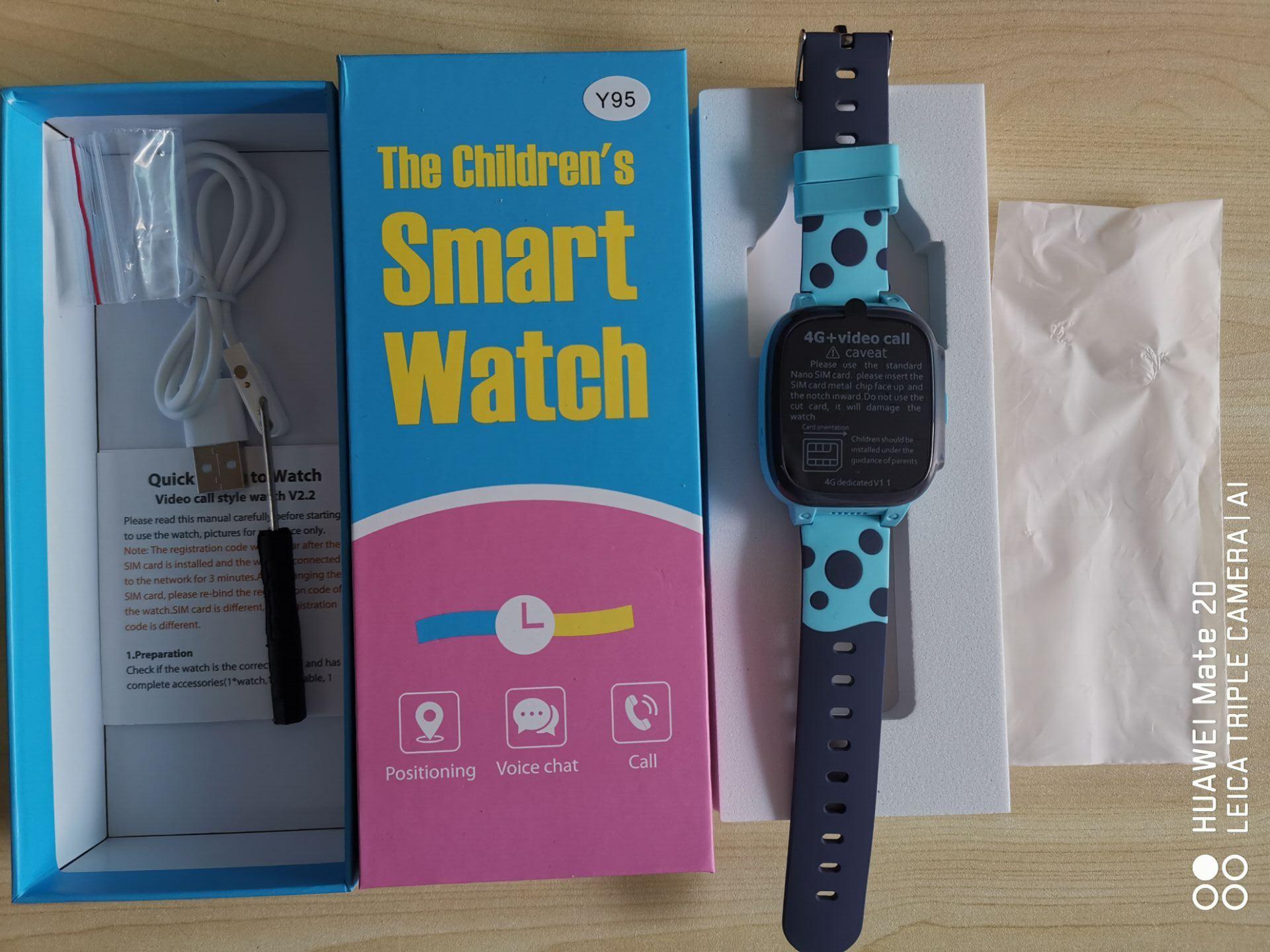 2020 Y95 4G Đồng Hồ Thông Minh Trẻ Em HD Video Chat Gọi Với AI Thanh Toán  WiFi GPS Định Vị Đồng Hồ Thông Minh Smartwatch Cho Bé trẻ Em Sinh Viên