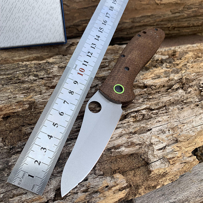551 Camping  Knife CPM-20CV Blade Linen Fiber Handle Utility Self-defenseTactical Folding Knives