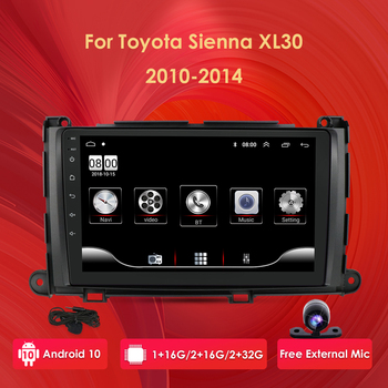 Android 10 Screen 9 Car Stereo Radio GPS Navigation Player For Toyota Sienna 2009 2010 2011 2012 2013 2014 XL30 Multimedia image