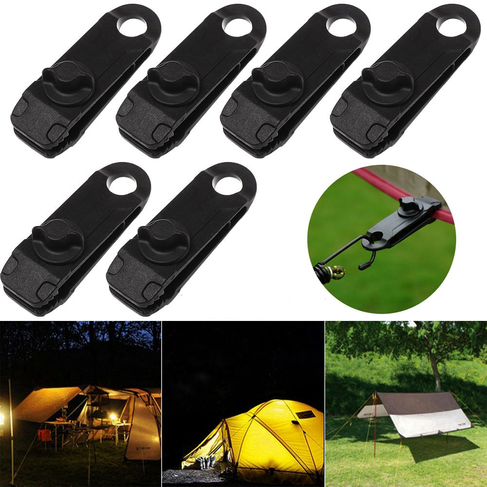 1PC Rotatable Gripper Tarp Tent Awning Clamp Windproof Clip Hook Canvas Grip Tighten Snap Clip Outdoor Camping Hike Accessories