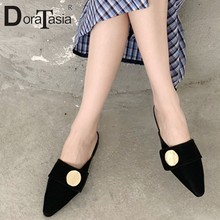 DORATASIA Ladies Spring Summer Low Heels Mules Daily Casual Low Heels Mules Women Concise Decorating Shoes Woman(China)