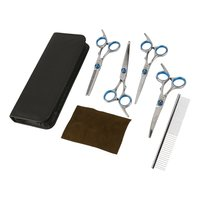 Professional Pet Dog Grooming Scissors Set Straight & Thinning & 2 Curved Scissors Shears Hairdressing Haircut Tools Kit