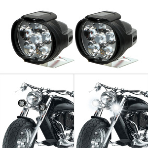 Image 3 - 2x Motorcycles Headlight 6500k White 6 LED Working Spot Light Motorbike Bicycles Scooters Spotlights Modified Auxiliary Fog Lamp