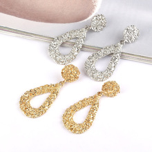 HOCOLE Fashion Metal Drop Earrings For Women Gold/Silver Color Geometric Vintage Dangle Earring Statement 2019 New Jewelry