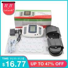 Nowy rosyjski przycisk elektryczny stymulator mięśni ciała Relax masażer mięśni Pulse dziesiątki terapia akupunkturą pantofel + 8 klocki + box