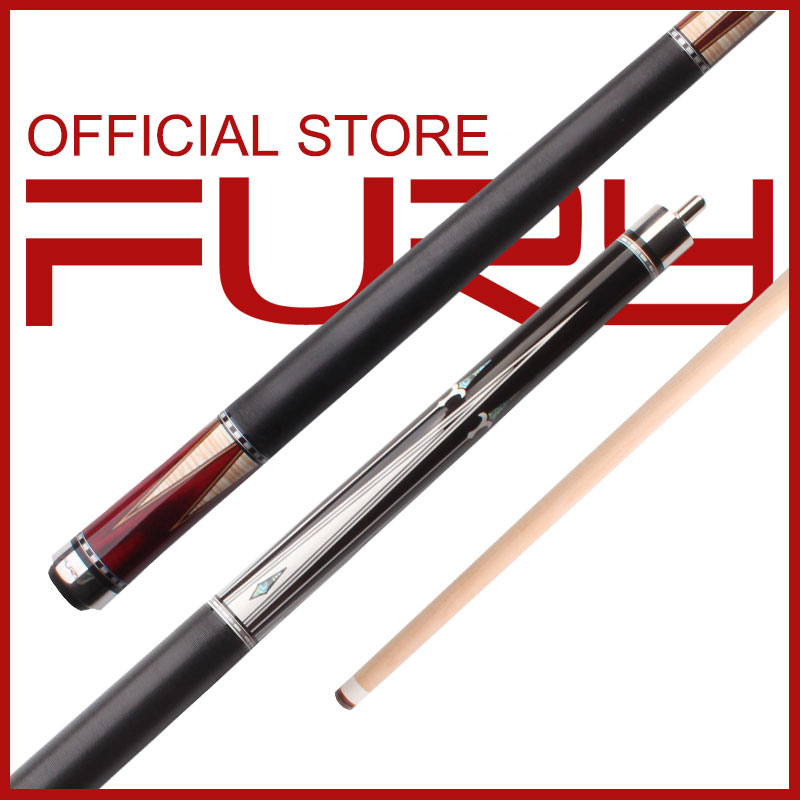 Fury AK Series 58'' High Quality Reasonable Price American Maple Shaft Center Joint Linen Thread Wrap Stick  Billiard Pool Cue