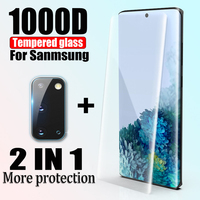 1000D Gehärtetem Glas Film Für Samsung Galaxy S21 S20 S10 S8 S9 Plus S10E Screen Protector Note 20 Ultra 10 8 9 schutz Glas