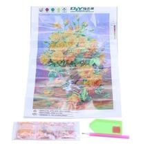 5D Diamond Painting Point drill Cross Stitch DIY Kit Home Decor Gift(Yellow flowers)