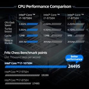 Image 2 - Machenike F117 VD1 RTX2060 משחקי מחשב נייד 2020 i7 10750H RTX2060 6G 32G 512G 2T 144Hz i7 מחברת RGB מקלדת מאטל פגז