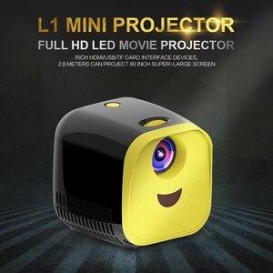 Image 5 - جهاز عرض صغير 480X320P المنزل كامل Hd Led فيلم العارض L1 فيديو العارض الاتحاد الأوروبي التوصيل