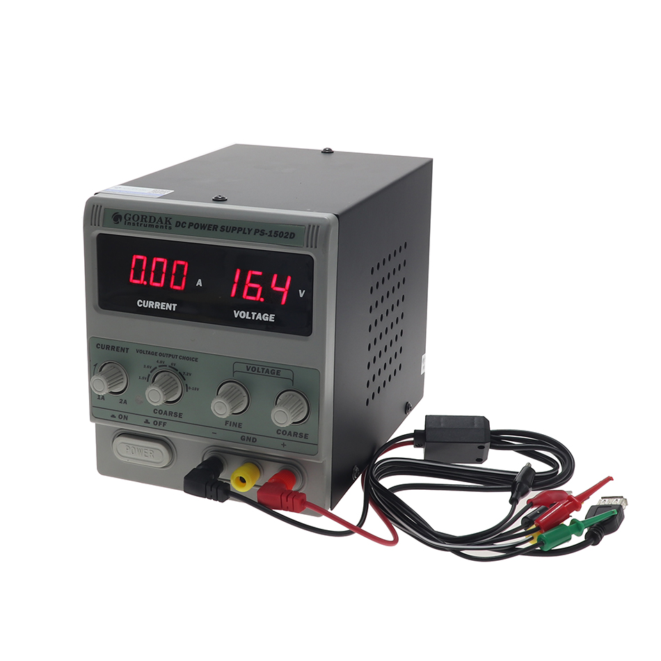 <font><b>1502D</b></font> high precision adjustable DC regulated power supply 0-15V 2A output 1.5V 3.6V 4.8V 6V 7.2V multiple output voltage image