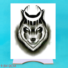 Waterproof Temporary Tattoo Sticker wolf moon Fake Tatto Flash Tatoo Hand Arm middle size art Tattoos for boy Women Men