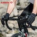 Santic мужские велосипедные перчатки Черный Гель Теплый Полный палец с функцией касания ударопрочный сохраняет тепло снаряжение осень W8C09090