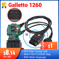 Инструмент для настройки чипа ECU Galletto 1260 EOBD/OBD2/OBDII Flasher Galleto 1260 ECU Flasher с FTDI FT232RQ, настройка двигателя