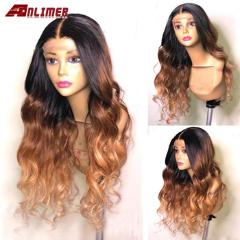 #1b/27 Ombre Brazilian 13x4/13x6 Lace Frontal Human Hair Wigs With Baby Hair Body Wave remy Pre Plucked Lace Front Wig For Women
