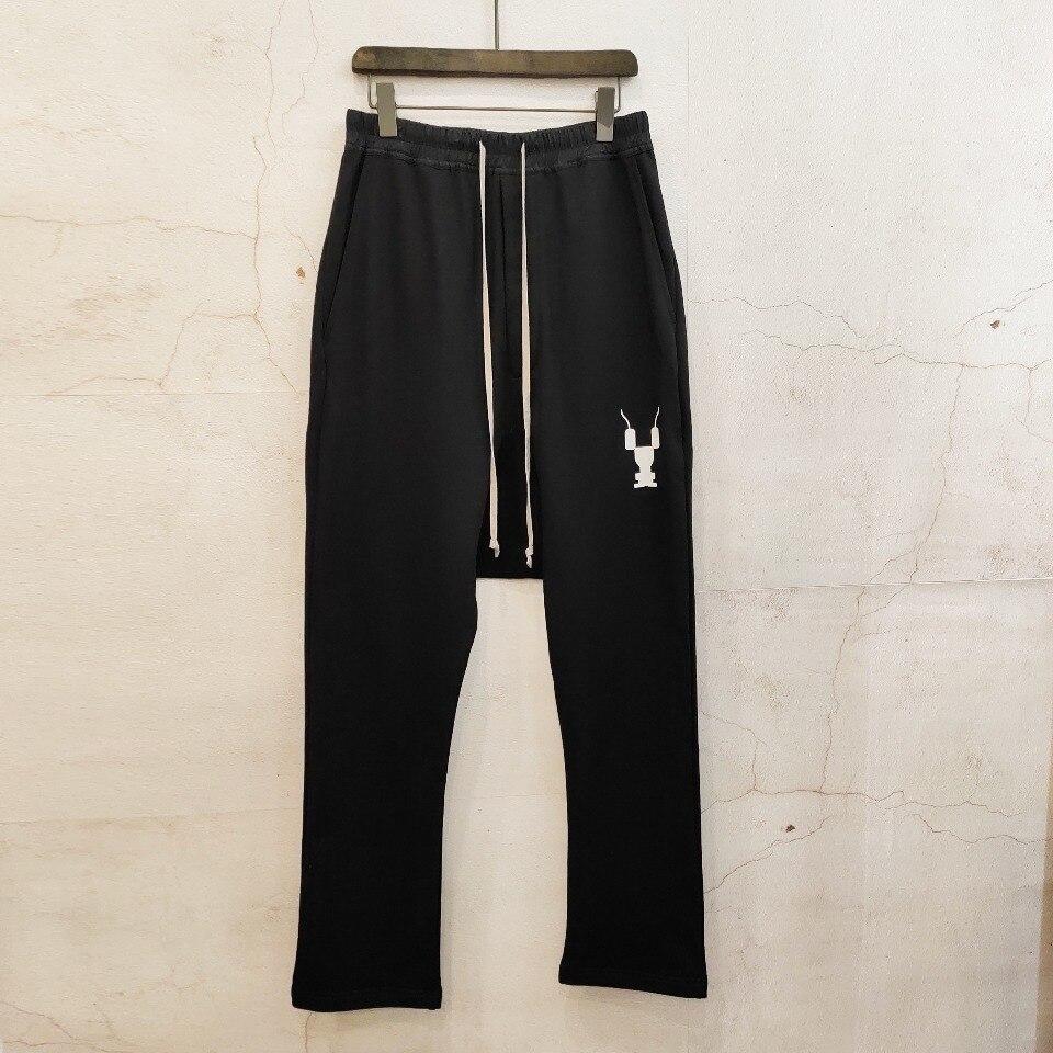 Owen Seak Men Casual Harem Pants Cotton Gothic Men's Clothing Sweatpants Autumn Women Cross Full Length Loose Black Pants XL