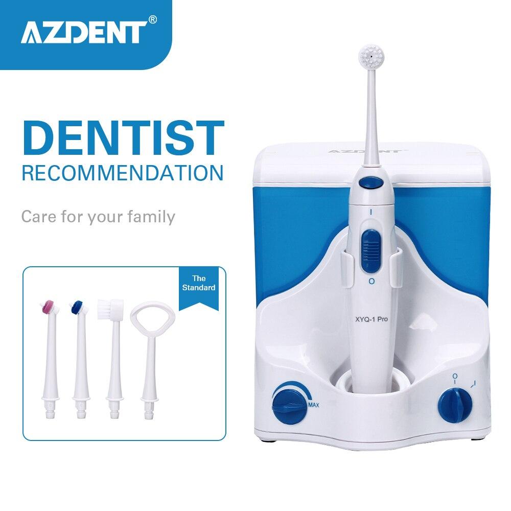 AZDENT électrique Oral irrigateur eau dentaire Flosser Jet d'eau fil dentaire choix de dents Irrigation dentaire 4pc conseils 500ml dent soie
